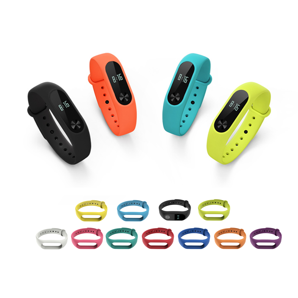 Mi Band 2 Strap For Xiaomi Mi Band 2 Bracelet Silicone Wristband Xiomi Mi Band2 Sport Band Replacement Watchband Accessories