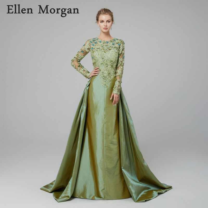 20156f6bd941 Saudi Arabian Mermaid Evening Dresses 2019 Robe De Soiree Kaftan Dubai  Moroccan Long Sleeves Lace Taffeta