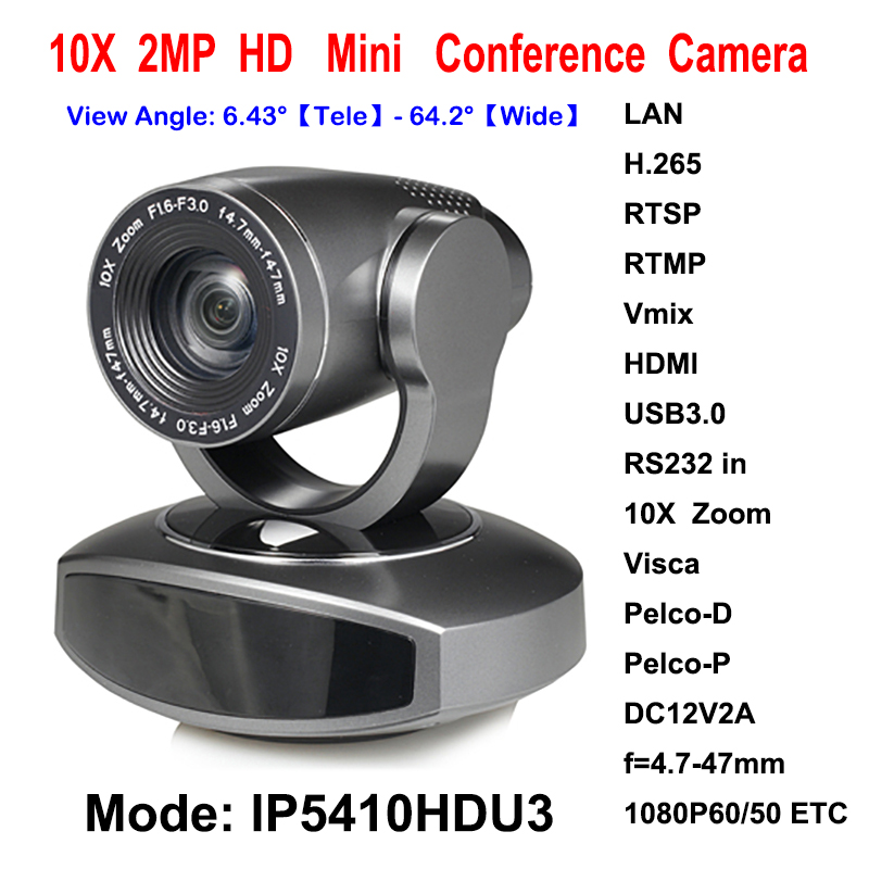 New 2megapixel 10X Zoom PTZ IP Streaming Camera with Simultaneous HDMI and USB3.0 Outputs 20x optical zoom ptz ip wifi streaming video audio camera rtmp rtsp onvif with simultaneous hdmi and 3g sdi outputs silver color