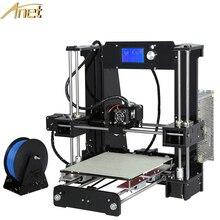 2016 Anet A6 3d Reprap Prusa impresora de gran Fabricante de Actualización i3 Filamento Impresora 3D Kit DIY Con El Envío 16 GB enseñanza vídeo