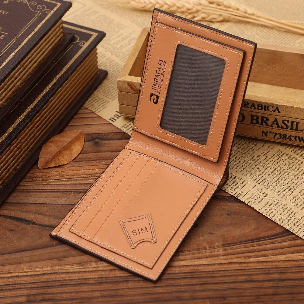 Fashion Mens Leather Short Wallets Coin Cash Pocket Purses Gift Men ID Credit Card Holder Bifold Male Purse Money Bag Carteira