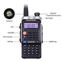 מכשיר הקשר dual band Baofeng UVB2 פלוס UVB2 מכשיר הקשר Waterproof Dual Band VHF / UHF שני רדיו דרך אינטרקום Ham CB רדיו כף יד משדר (5)