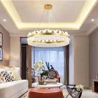 Modern chandelier round luxury living room lamp restaurant acrylic crystal chandelier