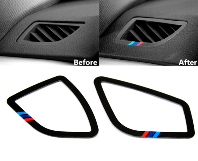 Dashboard Air Conditioner Outlet Decoration Trim Strip M Sport Car Interior Accessories For
