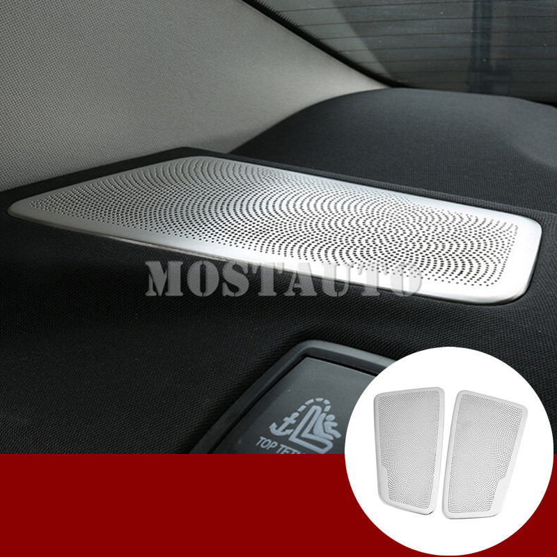 For BMW 5 Series G30 G31 Inner Rear Seat Speaker Frame Cover Trim 2017-2019 2pcs