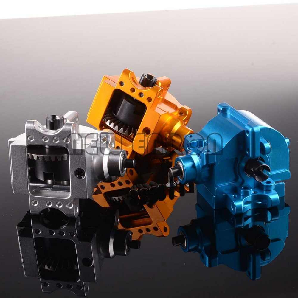 Aluminium Rear Gear Box Compleet Drive of Diff. gear 06064 02030 02024 06046 06063 1/10 HSP 94122 94166 94177 94188