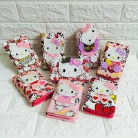 HELLO KITTY plush bag pu leather kawaii zipper female anime cartoon wallet girlfriend surprise gift toys for girls