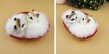 A pair of Simulation cat  polyethylene&furs cat  model funny gift about 10cmx8cmx5cm