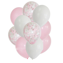 12inch 10pcs/5pcs Pink Blue Confetti Balloons Helium Baby Shower Girl /Boy Birthday Balloon Wedding Pink Party Supplies Baloes