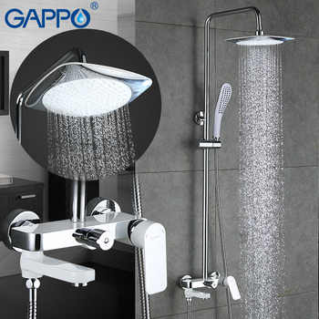 GAPPO Shower Faucets rainfall shower set wall mounted Bathroom mixer tap shower bathtub waterfall bath tub faucet grifo ducha