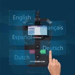 Image 5 - KONNWEI KW590 ODB2 Automotive Scanner OBD2 OBD Diagnostic Scanner in Russian Car Code Reader Auto Scanner Better AD310 ELM327