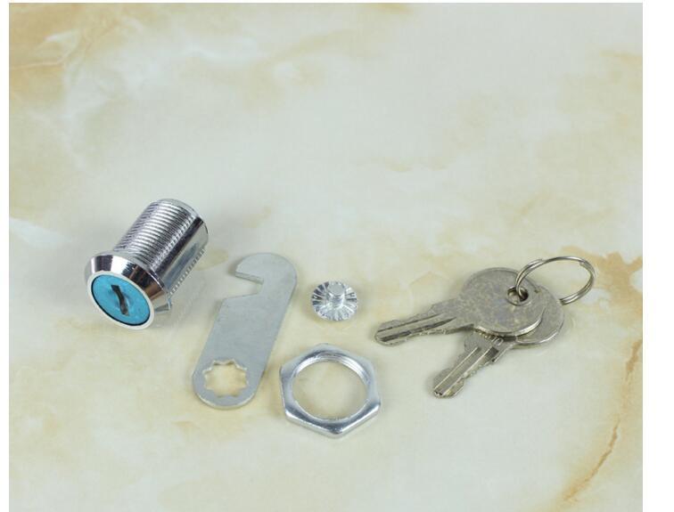 200pcs/lot! 16mm/20mm/25mm/30mm Safe Universal Cam Cylinder Locks Tool Box File Cabinet Desk Drawer Lock With 2 Keys