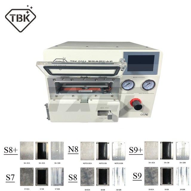 2019 New TBK 508A Curved Screen Laminating and Debubble Machine LCD Edge Laminating Machines For samcung iPhone iPad with moulds|Power Tool Sets|   - title=