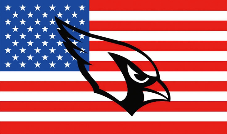 Arizona Cardinals Team Logo Sports The Star-Spangled Banners Flags 3ftx5ft Banner 100D Polyester Flag Metal Grommets 90x150cm