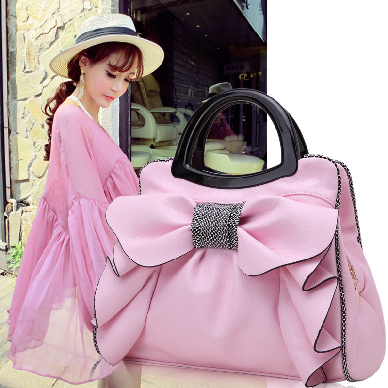 Become Warped A Surname Woman Package Autumn And Winter 2016 Tide Concise Sweet Lady Bow Ma'am Handbag Single Shoulder Package