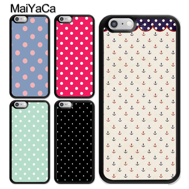 MaiYaCa Polka Dots design Mobile Phone Case Cover For iPhone XS MAX X XR 7 8 Plus 6 6s 5s SE Soft TPU Skin Back Shell Cover