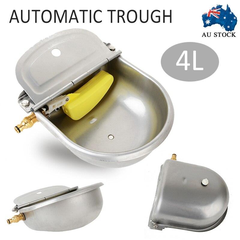 4L abreuvoir automatique en acier inoxydable mouton chien poulet vache Auto remplir bol alimentation arrosage fournitures 2 Styles MAYITR - 2