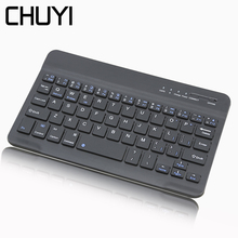 CHYI Ultra Slim Wireless Bluetooth Keyboard for IPad Multimedia Mini IOS Android Tablet Smartphone PC