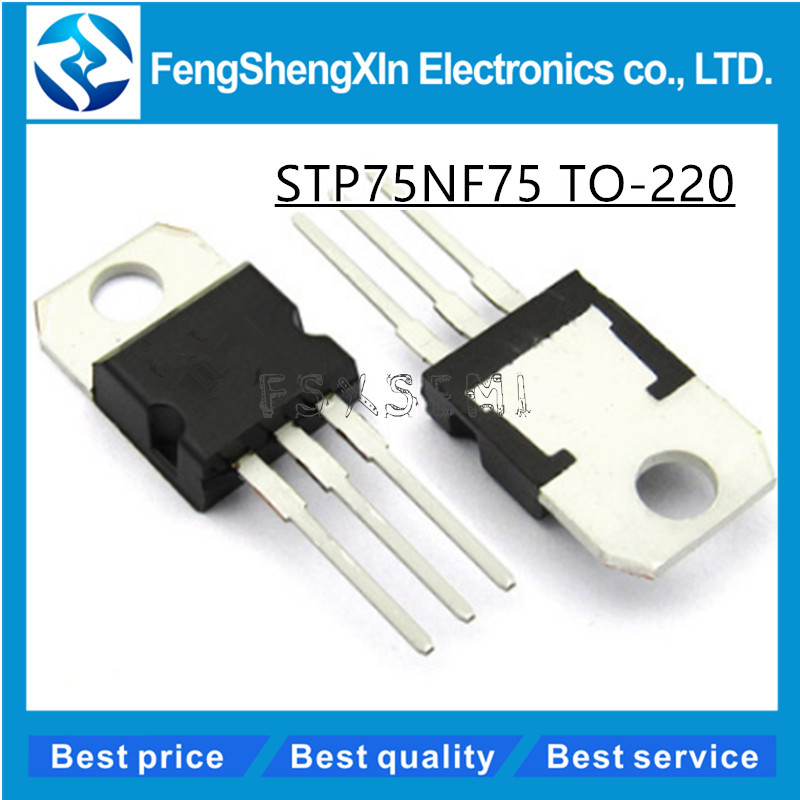 10pcs/lot STP75NF75 TO-220 P75NF75 75N75 MOSFET Transistor10pcs/lot STP75NF75 TO-220 P75NF75 75N75 MOSFET Transistor