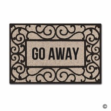 Funny Printed Doormat Entrance Floor Mat Rectangular Go Away Non-slip DoormatIndoor Outdoor Decorative Door Non-woven Fabric