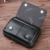Novo 4.8/5 polegadas Pacote de Cintura Do Couro Sacos de Couro Genuíno celular/Mobile Phone Caso Carteiras Para Homens Casuais Pequeno Cinto Marrom Preto