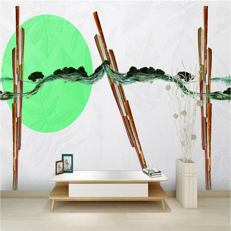Black and White Wall Decor Forest Wallpaper for Home European Minimalist Landscape Wallpaper TV Room Furniture Kids Room Decor the ivory white european super suction wall mounted gate unique smoke door