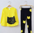 Girls clothing sets cat cute toddler girl clothes kids conjunto infantil meninas conjuntos para meninas cheap infant clothing