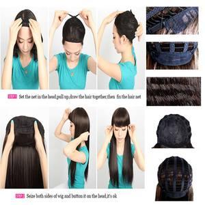 """Image 5 - S noilite 10 """"короткие курчавые синтетические волосы, парики, бразильские волосы Remy, афро волосы для черных женщин, натуральные волосы с челкой"""