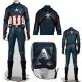 Superheros Стивен Роджерс Капитан Америка 3 Гражданской Войны Капитан Америка Косплей Костюм Костюмы На Заказ Настроить Высокое Качество
