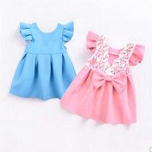 Summer little girl dress Newborn baby clothes short sleeve b