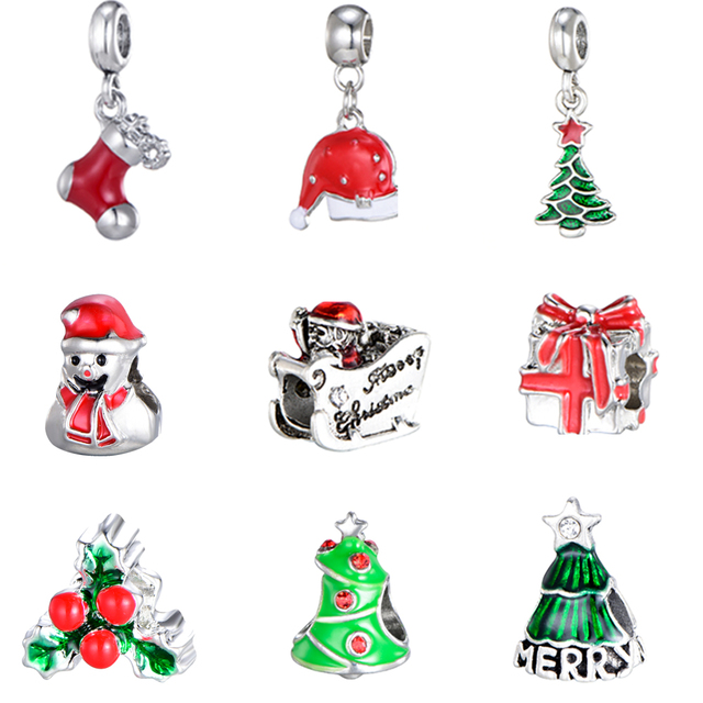 2019 Pandora Christmas Charms DEERIPA 2019 New Fashion Merry Christmas Charm Beads Fit Pandora