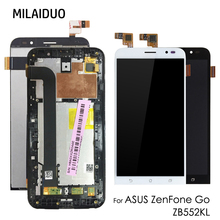 купить LCD Display For Asus Zenfone GO ZB552KL X007D 5.5 Touch Screen Digitizer Assembly Replacement Parts Black No/with Frame дешево
