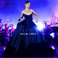 Celebrity Dress 2016 Beautiful Abaya Designs Rihanna Navy Blue Formal Evening Prom Gowns Train Red Carpet Dresses Vestidos