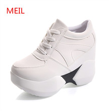 MEIL 2018 spring  Autumn Platform Shoes Woman Casual Women Round Toe Flats Zapatillas Mujer ladies shoes Size 35-39