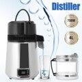 4L 750 Вт бытовой дистиллятор чистой воды Электрический очиститель воды из нержавеющей стали контейнер фильтр дистиллированная вода машина с...