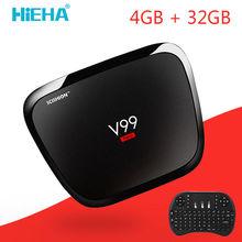 V99 Hero Android Tv Box 4 GB Ram 32 GB Android 5.1 Smart TV boîte RK3368 Octa Core Mali-T6X Kodi TV Box Double Bande Wifi 2.4/5 GHz AC