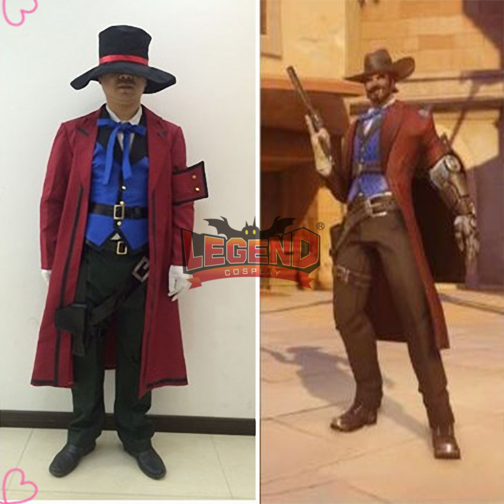 jesse mccree cosplay costume full set adult halloween costume custom