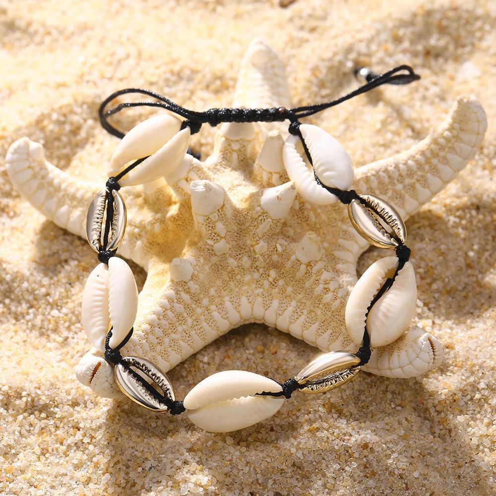 IPARAM 2019 czechy rocznika powłoki bransoletki na nogę moda panie złoty srebrny regulowany urok bransoletka łańcuszek na kostkę dziewczyny kobiety biżuteria prezenty
