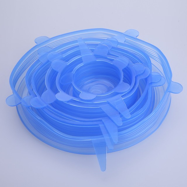 Kitchen Universal Silicone Food Suction Stretch Lid-bowl (6 pcs)