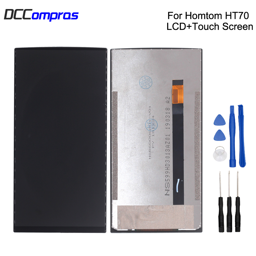 Original For HOMTOM HT70 LCD Display Touch Screen Digitizer For HOMTOM HT70 Display Screen LCD Phone Parts Free Tools in Mobile Phone LCD Screens from Cellphones Telecommunications