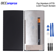 Original For HOMTOM HT70 LCD Display Touch Screen Digitizer For HOMTOM HT70 Display Screen LCD Phone Parts Free Tools цена 2017