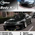 Para HONDA Prelude BA BB Pára Lábio Lábios/Top Gear Spoiler dianteiro Para Carro Tuning/TOPGEAR Body Kit + Tira saia