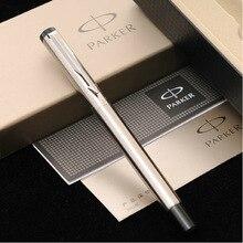 Бизнес-подарок логотипа серебристого fountain подарочной настроить паркер письма коробке гравировка металла