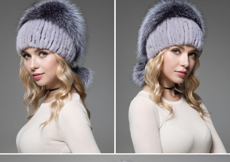 fur woman winter hats PCM012 (17)