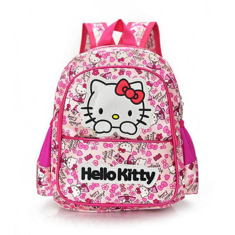 Новая детская сумки корейский детский сад школьная сумка Hello Kitty стильная футболка с изображением персонажей видеоигр Детская сумка мода де...