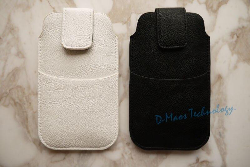 Dir-Maos For iPhone 8 Plus Case Leather Bag Belt Pocket Pouch Card Pocket Sack Soft Light Weight Business Sport Men Black