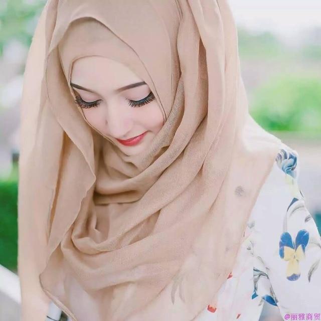 086b24f5d6d3 Classique Femmes D été Plaine Confortable Mousseline de Soie Écharpe  Musulmane Hijab Wrap Haute Qualité