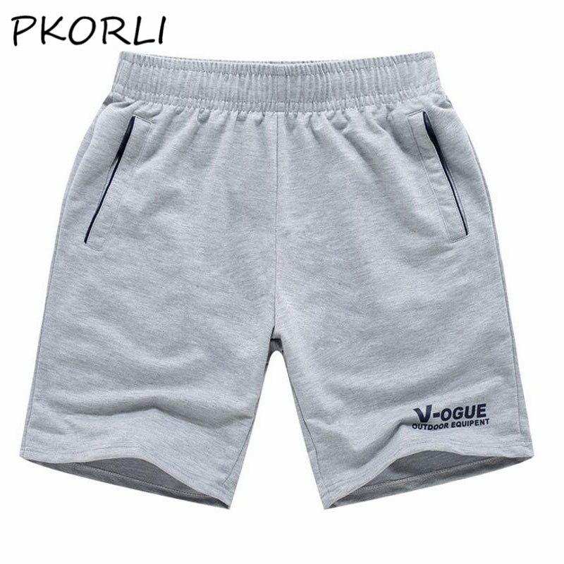 2017 Summer Shorts Men Cotton Slim Fit Breathable Soft Comfortable Beach Shorts Letter Print Short Pants