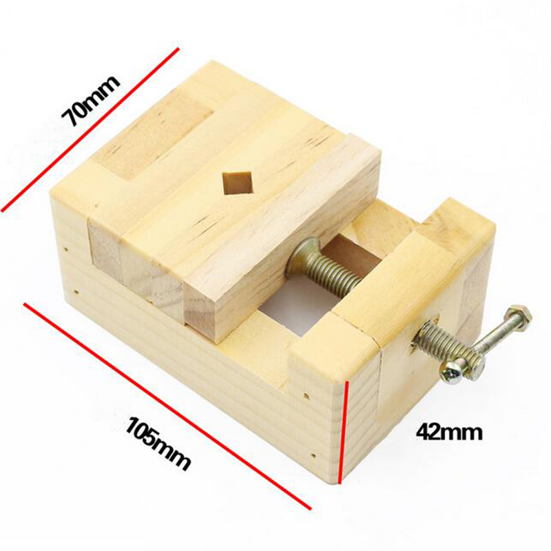 105*70*43mm DIY Wood Working Tool Mini Flat Pliers Vise Clamp Table Bench Vice Seal Hand Tools For Woodworking Carving Engraving slide wallet