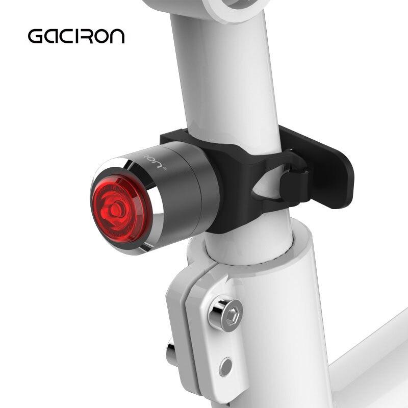 Gaciron Smart Bicycle Taillight Waterproof MTB Road Bike Light Mini LED USB Rechargeable Cycling Tail Light Night Warning Lamp